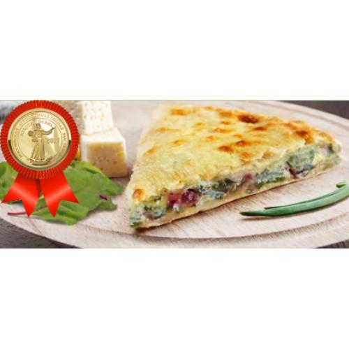 Пирог осетинский с листьями свеклы и сыром
