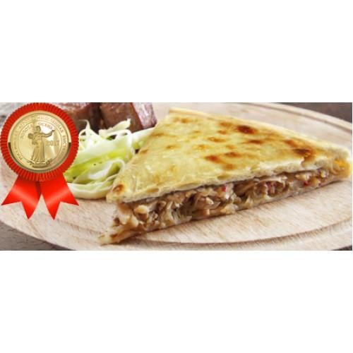 Пирог осетинский с говядиной и капустой