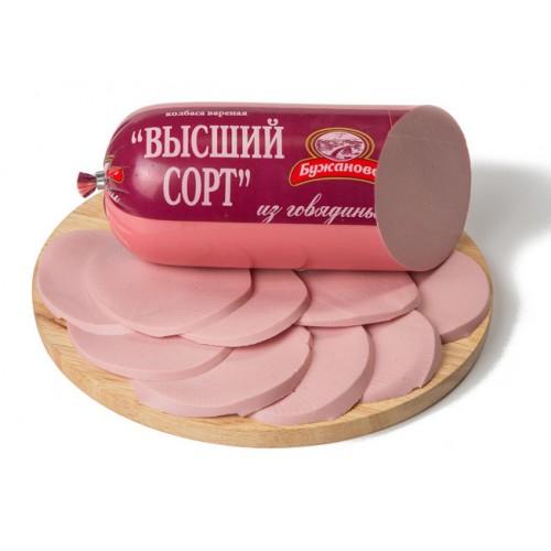 Вареная колбаса «Высший сорт из говядины»