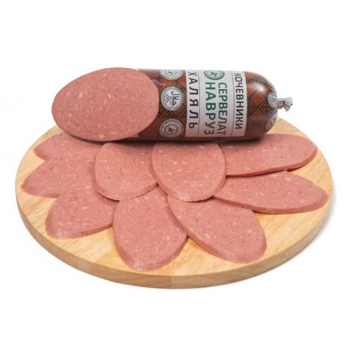 Варено-копченая колбаса сервелат «Навруз»