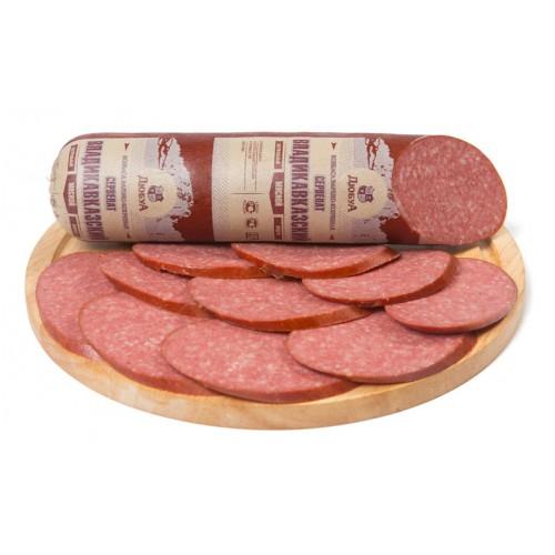 Варено-копченая колбаса сервелат «Владикавказский»