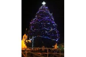 Перед Свято-Георгиевским собором установлена новогодняя елка