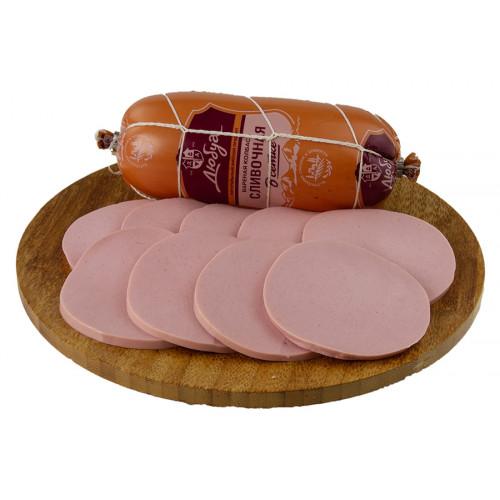 Вареная колбаса «Сливочная» в сетке